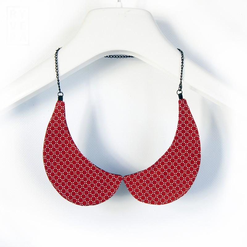 náhrdelníkový límeček Červený a černý