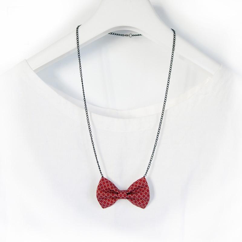 náhrdelníkový motýlek Červený a černý