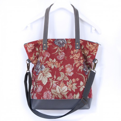 Handbag  NORMALka RedFlower....