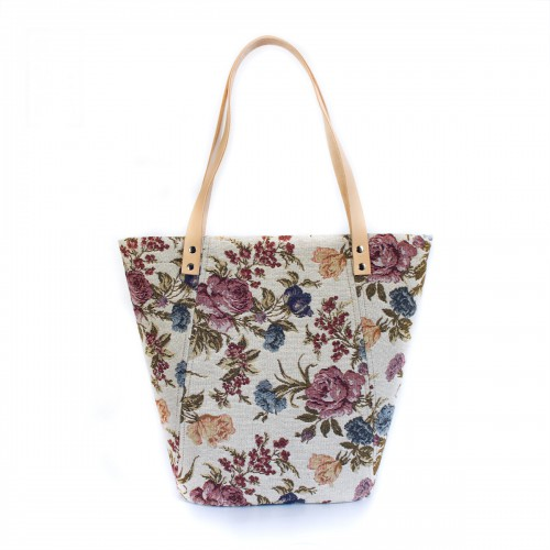 Handbag TULIP White Flower....