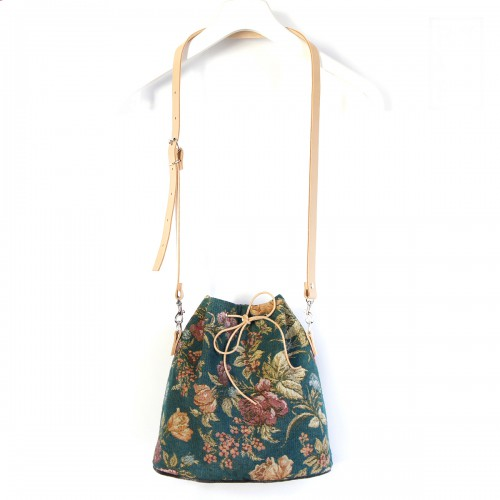 Handbag BonBon GREEN FLOWER....